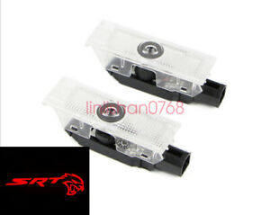 2x HD LED Logo Ghost Shadow Lamp Puddle Light For Dodge Challenger 2008 - 2021