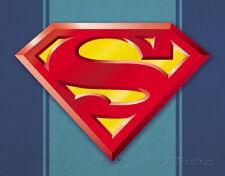Superman Logo Tin Sign - 16x12