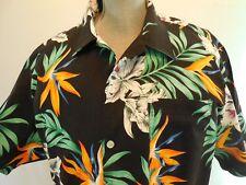 Tropical Bird of Paradise Hawaiin Aloha Shirt Size XL by Scorpio