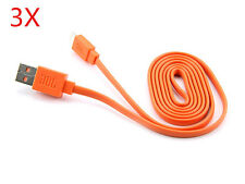 Orange 1M Flat Micro USB charger cable for JBL Charge 2 Plus Bluetooth speaker