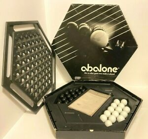 Vintage 1990 Abalone Strategy Marble Board Game by Galoob No. 7360 Complete⚪️⚫️