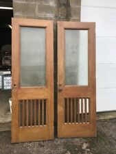 Mar 249 2available price separate antique oak and doors 28 x 83.25 Tex Glass