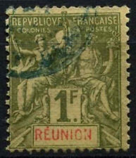 Reunion 1892 SG#46, 1f Olive Green Used #D49703