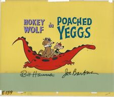 """Hokey Wolf"" 1961 Poached Eggs Title Card. Original Animation cel. Signed."