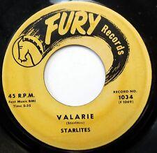 STARLITES doo-wop 45 Valarie / Way Up In The Sky FURY Frank Zappa Mothers w 254
