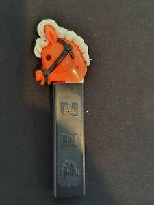 Rare Vintage Pez Dispenser Pony-Go-Round Orange Head, Black Eyes, No Feet