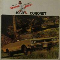 1969 Dodge Coronet RT Super Bee 500 440 Deluxe Custom Original Sales Brochure