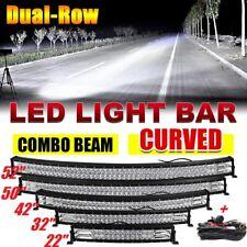 22/32/42/50/52 Curved LED Light Bar Spot Flood Offroad Driving Truck 4WD RZR 12V