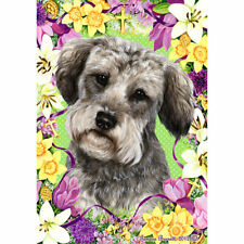 Schnoodle Easter Flowers Flag