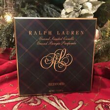 Ralph Lauren 'Bedford' Pine 4-Wick Soy Candle with Brass Sleeve 42 OZ $495 NEW