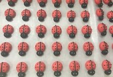 24 x Edible Sugar Icing Lady Bugs Cupcake Toppers Decorations Party Cakes