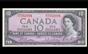 1954 BANK OF CANADA QEII $10 **Beattie & Rasminsky** UNC  @BC-40bA