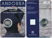Andorra 2 € Euro GM 2016 BU im Blister, 150 Jahre Neue Reform von 1866