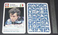 CARTE COUREUR AUTOMOBILE 1984 FORMULE 1 GRAND PRIX F1 ANDREA DE CESARIS LIGIER