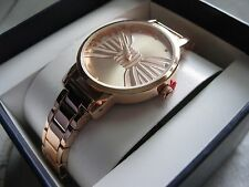 Women's Fashion Watch Copper Color Clear Stones Bow Tie Face New In Box