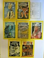 1969 National Geographic Magazines 7 Issues 1 Map May June July Aug Sept Nov Dec