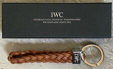 Brown Leather Rare! New! Authentic Iwc Schaffhausen Keychain -
