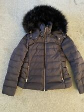 Black Zara Puffa Jacket Coat - Size L Excellent Condition