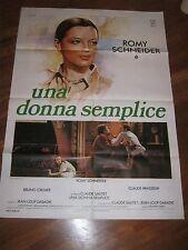 manifesto,UNA DONNA SEMPLICE Une histoire simple.Romy Schneider,1978