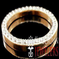 Rose Gold Prong Set Bezel Rolex Day-Date Datejust President 36mm Simu Diamond