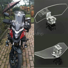 Universal Motorcycle Clip On Windshield Screen Extension Spoiler Wind Deflector
