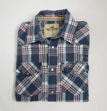Hollister Mens Western Plaid Snap Button Down Shirt Size Small