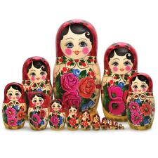 Russian Semenov Nesting dolls Matryoshka set 15 pcs. Hand painted in Russia 12''