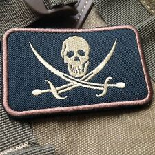 USMC INFIDEL JOLLY ROGER FLAG PIRATE SKULL WITH CROSS SWORDS BIKER PATCH