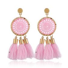 Women Tassel Long Dangle Drop Ear Stud Earrings Boho Style Fashion Jewelry