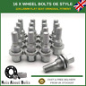 Original Style Alloy Wheel Bolts (16x) M12x1.25 For Peugeot 3008 (2009-16)