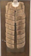 Faux Fur Long Gilet Jacket Size 10-12-14