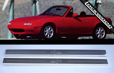 Mazda MX5/MX-5 Inoxydable Mk1 Sill Protections/coup De Pied Plaques