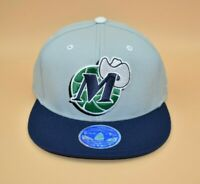 Dallas Mavericks adidas NBA 2-Tone Retro Logo Adult Fitted Cap Hat - Size: S/M