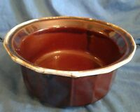 Vintage Bean Pot McCoy Pottery 7076 Crock Brown Drip Glaze Bowl