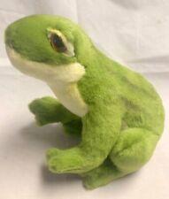 "Hansa Stuffed Animal Plush Realistic Green Frog New Nwt 8"" 4912"