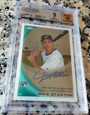 GIANCARLO MIKE STANTON 2008 2010 Topps Auto Rookie Card RC LOT BGS 9 10 59 HRs $