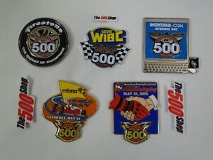 2005 Indy 500 Set of 5 Collector Sponsors Pin Firestone WIBC American Family