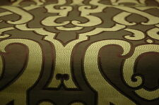GREEN CONTEMPORARY LARGE PATTERN UPHOLSTERY FABRIC 6 YARDS