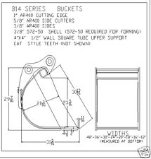"bucket , 24"" fits excavator or loader backhoe 14000-16000 lbs NEW"