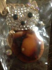 New Quality Swarovski Elements  Teddy Bear Key Chain Key Ring