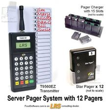 12 Server Pager Restaurant Paging System Kit by LRS Long Range Systems
