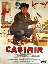 """""""CASIMIR"""" Affiche entoilée Litho FRANCOIS 1955  (Richard POTTIER / FERNANDEL)"""