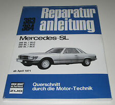 Reparaturanleitung Mercedes R107  C107  107  280 / 350 / 450 SL und SLC Neu!