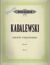 Kabalewski - Leichte Variationen für Klavier opus 40