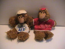 LOT /2 ALF TOY HAND PUPPETS ORBITER BASEBALL PLAYER & COOKIN WITH ALF CHEF NICE!