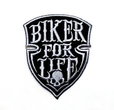 Biker For Life Chopper Harley Triumph Yamaha Kawasaki Suzuki Racing Iron Patch