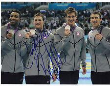 Cullen Jones Ryan Lochte Signed 8.5x11 Photo USA Swimming 2016 London Olympics
