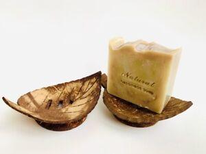 coconut shell natural soap dish