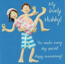Husband Anniversary Card - To My Lovely Hubby