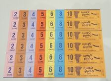 1500 BOOKS 3 PAGE (GAMES) 6 TO VIEW JUMBO BINGO TICKETS